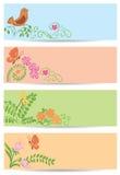 Ambiti di provenienza floreali con la natura Illustrazione di Stock