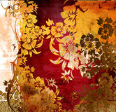 Ambiti di provenienza floreali di stile illustrazione di stock
