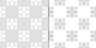Ambiti di provenienza floreali grigio chiaro Insieme dei reticoli senza giunte Fotografie Stock Libere da Diritti