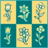 Ambiti di provenienza floreali variopinti illustrazione vettoriale