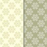 Ambiti di provenienza floreali di verde verde oliva Insieme dei reticoli senza giunte Fotografie Stock