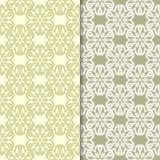 Ambiti di provenienza floreali di verde verde oliva Insieme dei reticoli senza giunte Immagine Stock Libera da Diritti