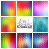 Ambiti di provenienza geometrici astratti luminosi messi 8 in1 Vettore poligonale per la vostra progettazione Mosaico variopinto  Fotografia Stock Libera da Diritti