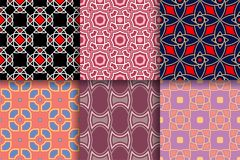 Ambiti di provenienza geometrici Raccolta delle strutture senza cuciture colorate Fotografia Stock