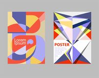 Ambiti di provenienza geometrici di vettore con le forme astratte d'avanguardia Per la copertura, il manifesto o l'opuscolo Fotografia Stock
