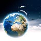 Ambiti di provenienza globali astratti del trasporto Immagini Stock