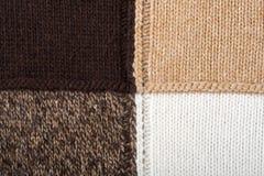 Ambiti di provenienza lavorati a maglia dell'estratto della tessile Fotografia Stock Libera da Diritti