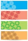 Ambiti di provenienza luminosi di colore con la decorazione geometrica Illustrazione Vettoriale