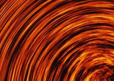 Ambiti di provenienza luminosi di scoppio del fuoco di esplosione testo della fiamma di rotazione di moto Fotografia Stock