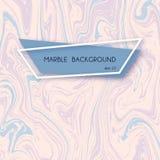 Ambiti di provenienza di marmo astratti nei colori liquidi della pittura del blu e di rosa pastello illustrazione di stock