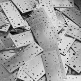 Ambiti di provenienza metallici Fotografia Stock