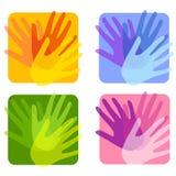 Ambiti di provenienza opachi di Handprint illustrazione vettoriale
