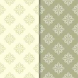 Ambiti di provenienza ornamentali floreali di verde verde oliva Insieme dei reticoli senza giunte Immagini Stock Libere da Diritti