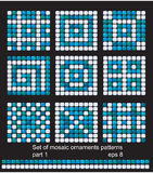 Ambiti di provenienza quadrati del reticolo di mosaico impostati Fotografia Stock Libera da Diritti