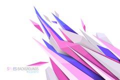 Ambiti di provenienza rosa delle punte di colori Fotografie Stock