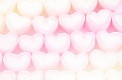 Ambiti di provenienza rosa e blu di colore morbido della caramella gommosa e molle Immagine Stock