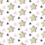 Ambiti di provenienza senza cuciture dei modelli delle stelle di vettore delle toppe alla moda dei bambini messi Fotografia Stock