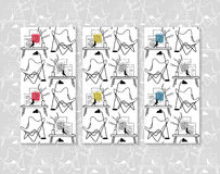 Ambiti di provenienza senza cuciture di vettore della sedia della farfalla Mobilia di progettazione Fotografia Stock Libera da Diritti