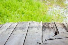 Ambiti di provenienza strutturati di legno sulla riva del fiume Fotografie Stock Libere da Diritti
