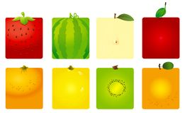 Ambiti di provenienza svegli della frutta illustrazione di stock