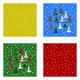 Ambiti di provenienza tileable di Natale messi Fotografie Stock