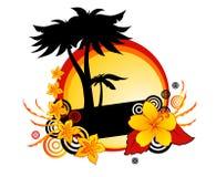 Ambiti di provenienza tropicali Immagine Stock Libera da Diritti