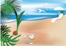 Ambiti di provenienza tropicali astratti Illustrazione di Stock