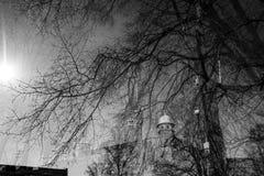 Ambiti di provenienza urbani della città Fotografia Stock