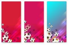 Ambiti di provenienza variopinti di calcio con i palloni da calcio royalty illustrazione gratis