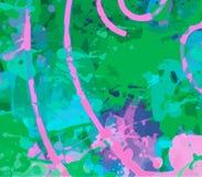 Ambiti di provenienza variopinti, contesti artistici creati digitalmente, illustrazione di stock