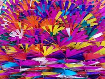 Ambiti di provenienza variopinti dei mulini a vento del giocattolo Fotografia Stock Libera da Diritti
