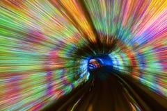 Ambiti di provenienza variopinti del tunnel Immagine Stock