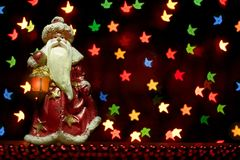 Ambiti di provenienza variopinti di Natale per le cartoline d'auguri Fotografie Stock