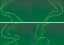 Ambiti di provenienza verdi Fotografia Stock