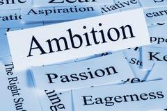 ambitie Royalty-vrije Stock Foto's