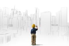 Ambitie van een jonge architect Royalty-vrije Stock Afbeeldingen