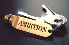 Ambition Concept. Keys with Golden Keyring Stock Photography