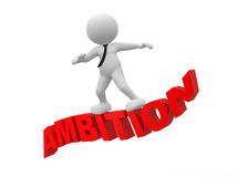 Ambition. 3d people - man, person flying. Ambition Royalty Free Stock Photo
