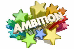 Ambition Driven to Succeed Word Stars. 3d Illustration Royalty Free Stock Images