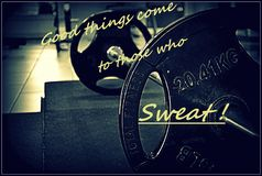 Ambition. At the gym stock photography