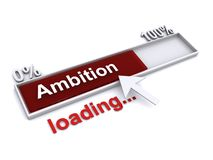Ambition loading sign. An illustration of an ambition loading sign with a pointing arrow on a white background vector illustration