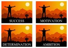 Ambition motivation success Royalty Free Stock Photos