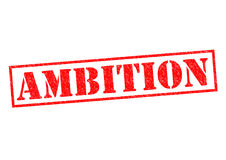 AMBITION. Red Rubber Stamp over a white background Royalty Free Stock Photos