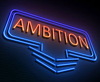 Ambition sign concept. Royalty Free Stock Photography