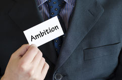 Ambition text concept Royalty Free Stock Images