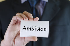 Ambition text concept Royalty Free Stock Photos