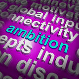 Ambition Word Cloud Means Target Aim Or Goal Royalty Free Stock Photo