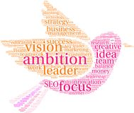 Ambition Word Cloud. On a white background Royalty Free Stock Image