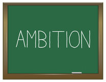 Ambition word concept. Stock Image