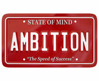 Ambition Word License Plate Attitude Motivation Inspiration Stock Images